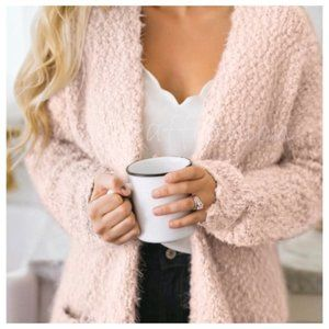 Popcorn Knit Cardigan Sweater Oversized